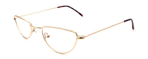 Half Moon Glasses in Gold