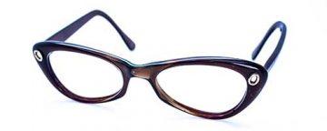 Oval/Brown Plastic Frame
