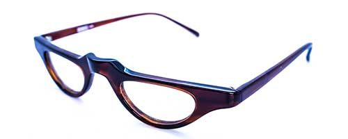 Vintage Brown Plastic Half Eye Frame 1