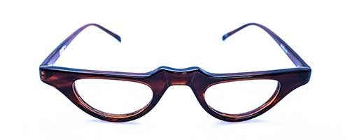 Vintage Brown Plastic Half Eye Frame 2