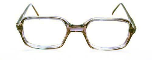 Square Brown Plastic Vintage Frame 2