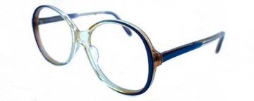 UKO Lauren Ladies Amber Crystal/Blue Plastic Frame