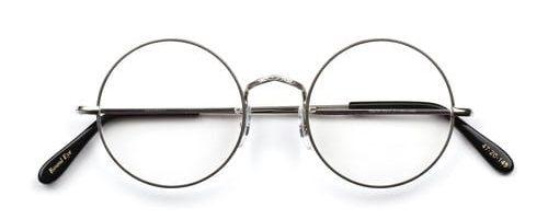 Savile Row Round Eye Rhodium Engraved
