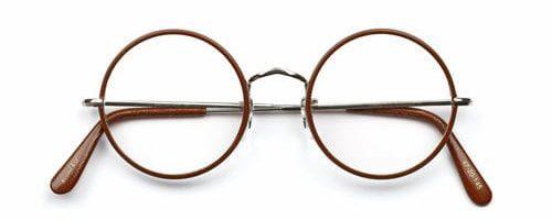 Savile Row Round Eye Rhodium Windsor Leather Tan