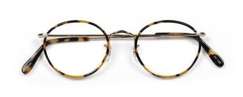 Savile Row Shallow Panto Gold Windsor Tortoise