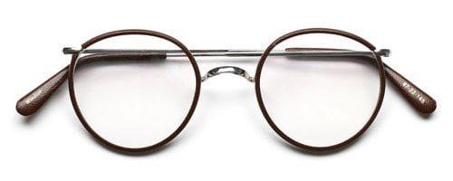 Savile Row Windsor Rhodium Leather Brown