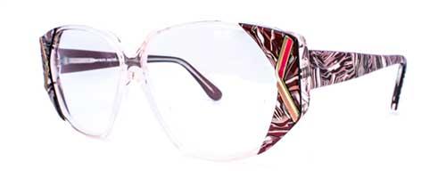 art deco purple pattern glasses