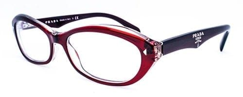 Prada: VPR 110 ladies red and crystal acetate frame