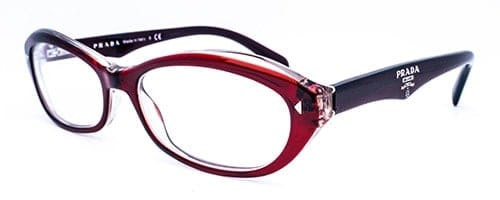 dc1c20f23598 Prada: VPR 110 ladies red and crystal acetate frame - INeedSpex