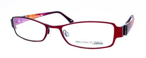 WM-2221 Ladies red metal fronted frame with patterned plastic sides 1