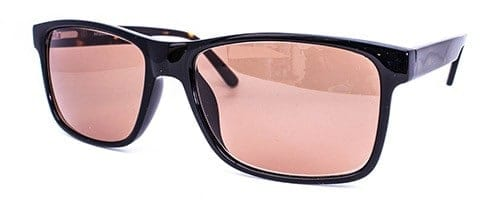AK9008 Gents or Ladies black plastic fronted  frame with brown mottled sides