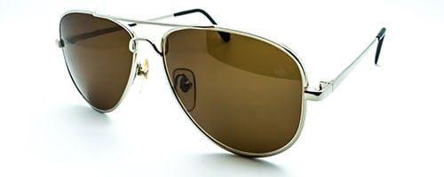 Classic Aviator Sunglasses Silver