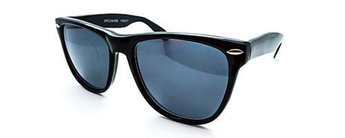 "RX2 – Classic ""Wayfarer"" shaped plastic sunglass."