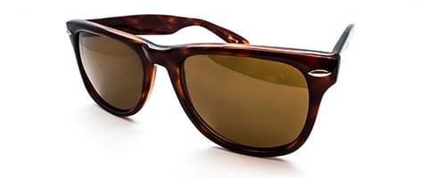 "RX1 – Classic ""Wayfarer"" shaped  plastic sunglass."