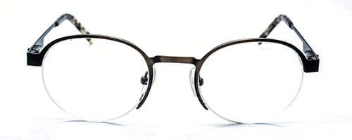 Semi Rimless Round Metal Frame