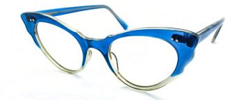 Classic full rim blue cat's eye