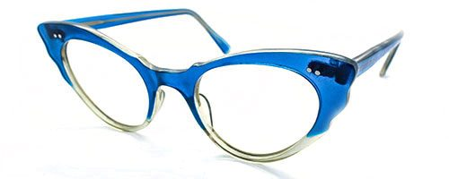 Classic full rim blue cat's eye 1