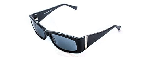 Carducci CD1006 black ladies sunglasses with wide sides
