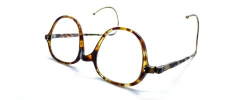 NHS Uni-sex tortoise plastic frame with curl sides (SF340)